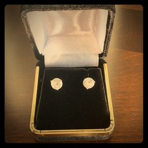 Jewelry - 14K WG 2 Ct. Martini Set Lab Made Diamond Earrings